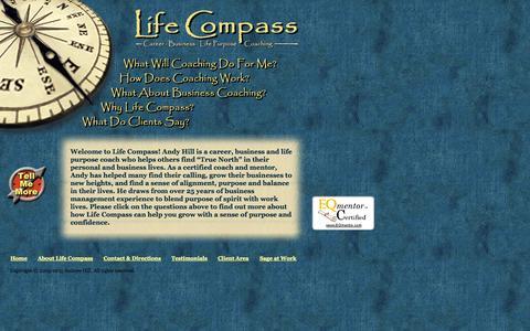 Screenshot of Home Page life-compass.com - Life Compass | Career, Life Purpose, and Business Coaching | Reno, NV - captured Jan. 26, 2015