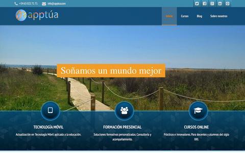 Screenshot of Home Page apptua.com - Apptua y conviértete en formador mlearning-Apptua   – - captured Dec. 25, 2015