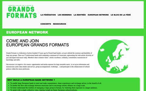 Screenshot of About Page grandsformats.com - European Network - Grands FormatsGrands Formats - captured Nov. 5, 2018