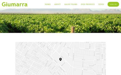Screenshot of Contact Page squarespace.com - Contact Us — Giumarra Companies - captured Oct. 31, 2014