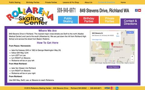 Screenshot of Maps & Directions Page richlandskate.com - Rollarena Skating Center  | Directions - captured March 11, 2016