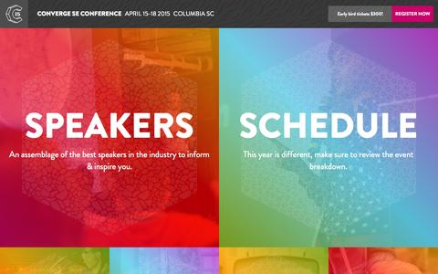 Screenshot of Home Page convergese.com - ConvergeSE 2015 | Columbia, SC | April 15-18 2015 - captured Jan. 23, 2015