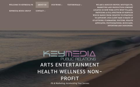 Screenshot of About Page wordpress.com - About Us – Arts Entertainment Health Wellness non-profit - captured Oct. 26, 2018