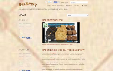 Screenshot of Press Page baconery.com - News                           | Baconery Store - captured Sept. 30, 2014