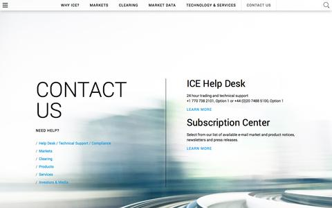ICE: Contact Us
