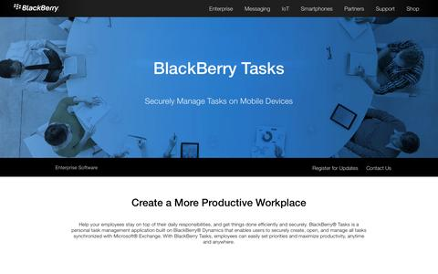 Mobile Task Management – BlackBerry Tasks - United States