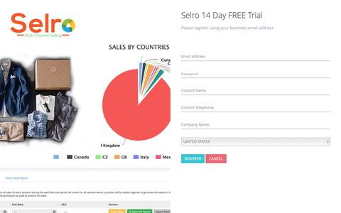 Screenshot of Trial Page selro.com - Selro Multichannel Inventory and Order Management - eBay, Amazon and more - captured June 28, 2017