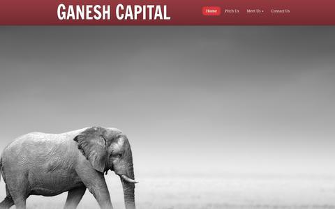 Screenshot of Home Page ganeshcapital.com - Ganesh Capital | - captured May 14, 2017