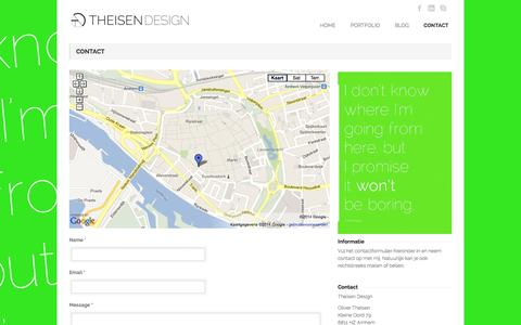 Screenshot of Contact Page theisen-design.com - Theisen Design » CONTACT - captured Oct. 9, 2014