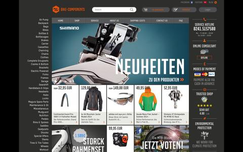 Screenshot of Home Page bike-components.de - bike-components | bike accessories, bike parts, bike offers - captured Sept. 22, 2014