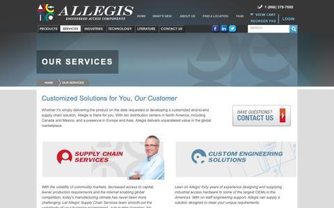 Screenshot of Services Page allegiscorp.com - Allegis Corporation - captured Oct. 3, 2018