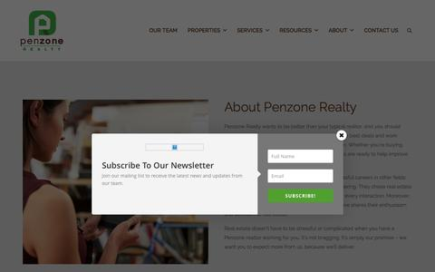 Screenshot of About Page penzonerealty.com - About Us | Penzone Realty - captured Dec. 8, 2015