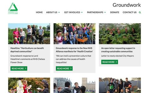 Screenshot of Press Page groundwork.org.uk - Groundwork   News   Groundwork news - captured May 25, 2017