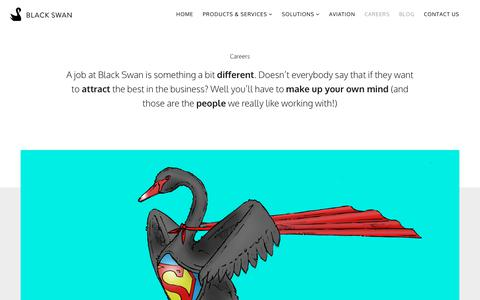Screenshot of Jobs Page blackswan.com - Work with us - Black Swan - captured Oct. 10, 2017