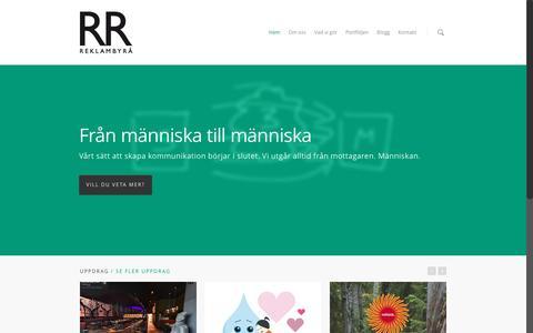 Screenshot of Home Page reklamresultat.se - RR Reklambyrå - captured Dec. 1, 2016