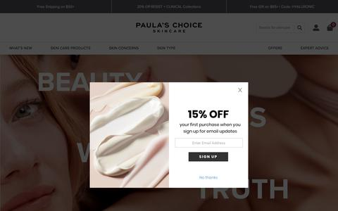 Screenshot of About Page paulaschoice.com - Paula's Choice Skincare | Paula's Choice - captured Sept. 16, 2019