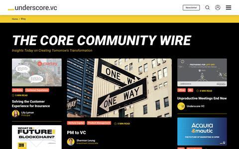 Screenshot of Blog underscore.vc - Blog | Underscore VC - captured July 4, 2019