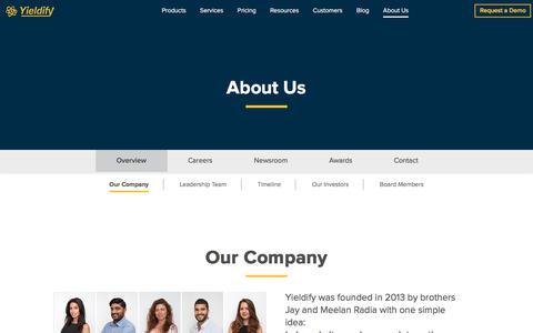Our Company | Yieldify