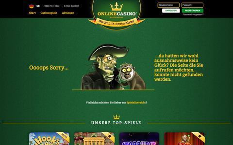 Screenshot of onlinecasino.de - onlinecasino.de - Deutschlands legales Online Casino - captured Oct. 3, 2015
