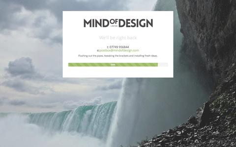 Screenshot of Home Page mindofdesign.com - Mind of Design - captured Jan. 21, 2015