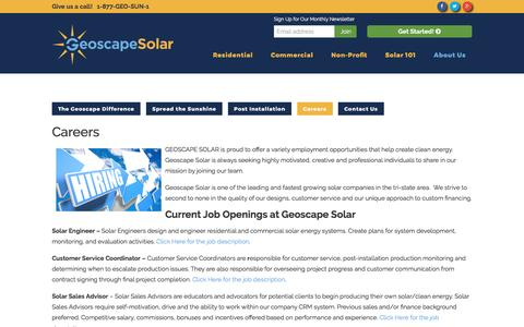 Screenshot of Jobs Page geoscapesolar.com - Careers - Geoscape Solar - captured May 17, 2017