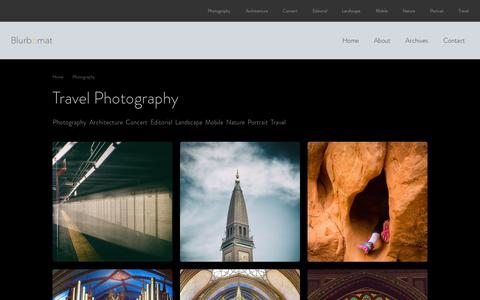 Screenshot of Home Page blurbomat.com - Jon Armstrong Travel Photography - captured Sept. 4, 2015