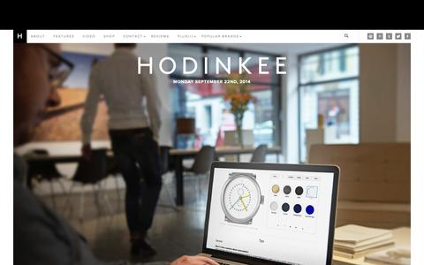 Screenshot of Home Page hodinkee.com - HODINKEE - Wristwatch News, Reviews, & Original Stories - captured Sept. 19, 2014