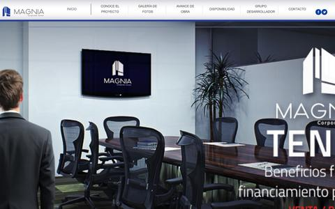 Screenshot of Home Page magniamerida.com.mx - MAGNIA :: INICIO - captured April 8, 2016