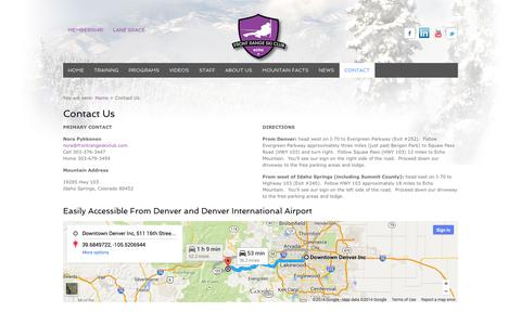 Screenshot of Contact Page frontrangeskiclub.com - Contact Us | Front Range Ski Club - captured Sept. 30, 2014