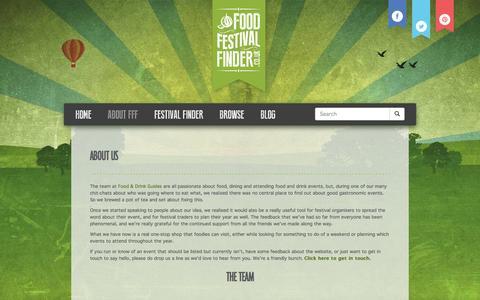 Screenshot of About Page foodfestivalfinder.co.uk - About Us | Food Festival Finder - captured Nov. 18, 2015