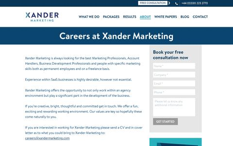 Careers | Careers at Xander Marketing | Thank God it's Monday