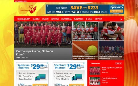 Screenshot of Home Page mojacrvenazvezda.net - Почетна �траница портала Моја Црвена звезда - captured Sept. 6, 2016