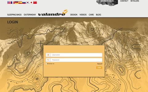 Screenshot of Login Page valandre.com - Login - captured Feb. 23, 2016