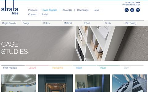 Screenshot of Case Studies Page stratatiles.co.uk - Case Studies - Strata Tiles - captured Oct. 25, 2017