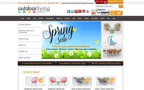 Screenshot of Home Page outdoorlivingdirect.com.au - Outdoor Furniture - Outdoor Living Direct - captured Oct. 9, 2014