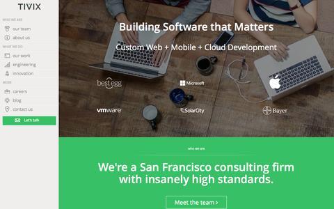 Custom web and mobile applications   Tivix