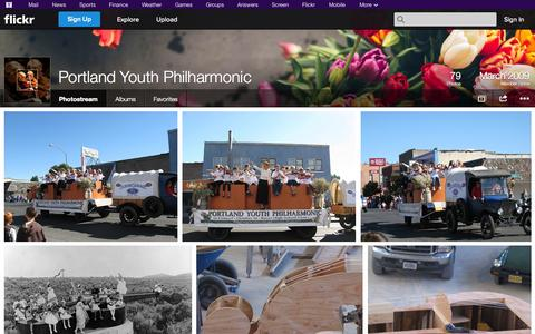 Screenshot of Flickr Page flickr.com - Flickr: Portland Youth Philharmonic's Photostream - captured Oct. 22, 2014