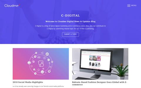 Screenshot of Blog cloudme.bh - Blog | Cloudme Digital Marketing and eCommerce News | Cloudme - captured Dec. 15, 2018