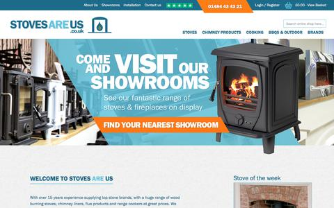 Screenshot of Home Page stovesareus.co.uk - Wood Burning Stoves, Multifuel, Gas and Electric Stoves - Stoves Are Us - captured Sept. 21, 2018