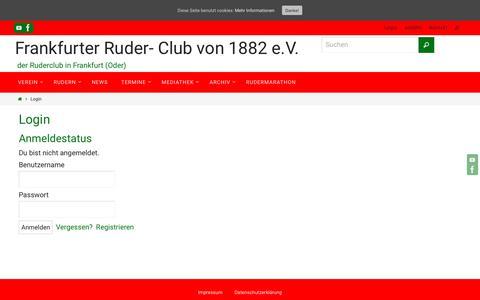Screenshot of Login Page frcvon1882.de - Login – Frankfurter Ruder- Club von 1882 e.V. - captured Oct. 29, 2018