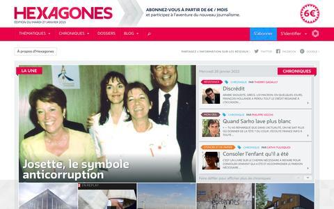 Screenshot of Home Page hexagones.fr - Hexagones - Révéler la France telle qu'elle est - captured Jan. 28, 2015