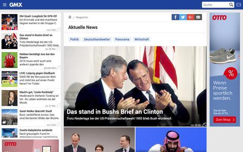 Screenshot of Press Page gmx.net - Aktuelle Nachrichten aus Politik, Wirtschaft & Panorama | GMX - captured Dec. 2, 2018