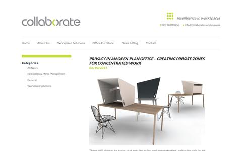 Screenshot of Press Page collaborate-london.co.uk - Collaborate - captured Oct. 23, 2014