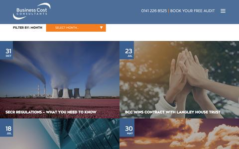 Screenshot of Press Page businesscostconsultants.co.uk - News | Business Cost Consultants | Glasgow - captured Nov. 6, 2018