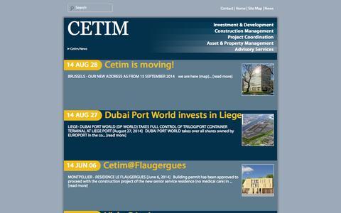 Screenshot of Press Page cetim.be - News cetim | Cetim - captured Oct. 1, 2014