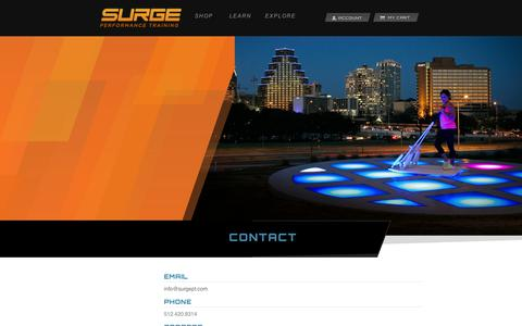 Screenshot of Contact Page surgept.com - Contact | Surge Performance Training - captured Sept. 11, 2014