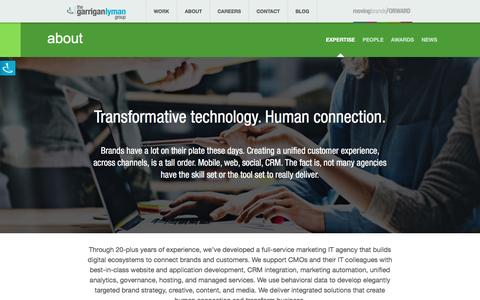 Screenshot of About Page glg.com - Digital Agency Services | The Garrigan Lyman Group - captured Dec. 16, 2016