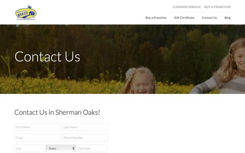 Screenshot of Contact Page youvegotmaids.com - Sherman Oaks | Contact Us - captured Oct. 19, 2018