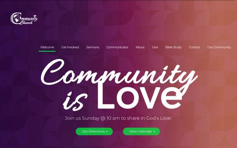 Screenshot of Home Page ccogatl.org - Community Church of God Atlanta | Real Church for Real People - captured Nov. 10, 2018