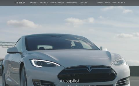 Screenshot of Home Page teslamotors.com - Tesla Motors | Premium Electric Vehicles - captured Feb. 19, 2016
